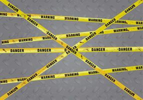 Rusty Danger Warning Vector Background