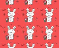 Motif Vector Easter Bunny