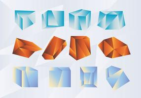 Abstracte vorm Gradient Prisma Vector Pack