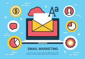 Livre Email Marketing Elements Vector