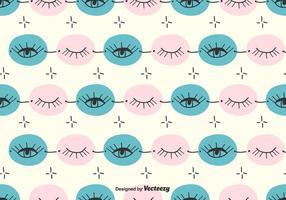 Doodle Eye Pattern vector