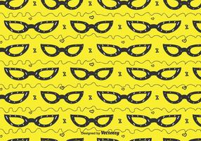 Cat Eye Glasses Pattern vector