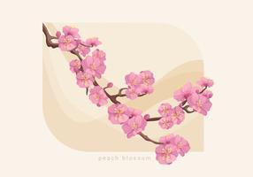 Ilustración vectorial Flor de Durazno