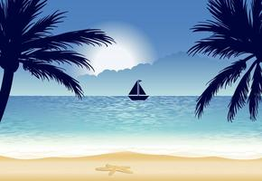 Illustration belle plage