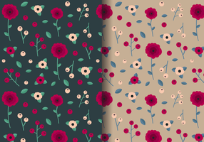 Free Vintage Rose Pattern vector