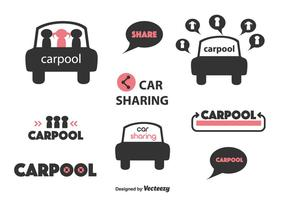 Labels Carpool vector