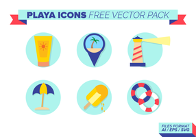 Playa ikoner Free Vector Pack