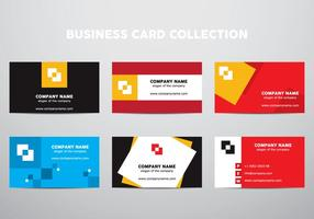 Business Card Collection vector