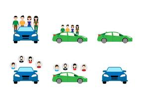 Flat Carpool Sticker Ontwerp