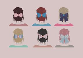 Hair Ribbon Simple Cute Vector