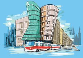Vector Schilderij van Praag
