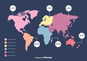 Infografik Mapa Mundi Vektor