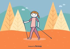 Illustration Vecteur Nordic Walking