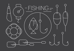 Free Linear Fishing Icons in Minimal Style