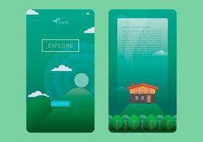 Green Landscape Cabana UI Design
