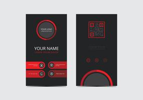 Red Stylish Business Card Template