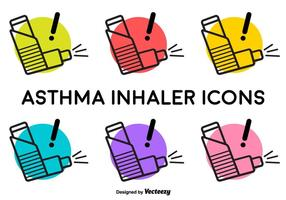 Vector astma Inhalator Signs