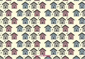 Kleine Häuser Vektor-Muster