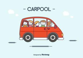 Carpool piatto vettoriale
