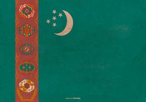 Drapeau grunge du Turkménistan