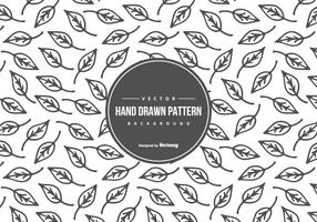 Cute Hand Drawn Style Leaf Pattern Background