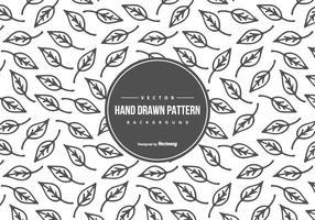Söt Hand Drawn Style Leaf mönster bakgrund