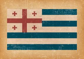 Adscharien Flagge auf Grunge-Stil Hintergrund