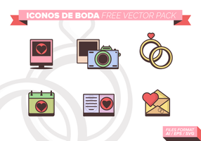 Iconos De Boda Free Vector-Pack
