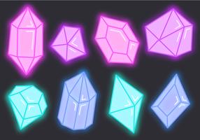 Vettore di gemme al neon