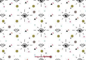 Ojos y labios vector patrón