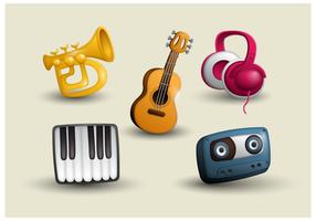 Vettore libero delle icone di musica