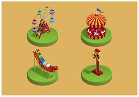 Free Vector Themepark Icons