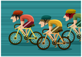 Gratis Bicycle Race Vector