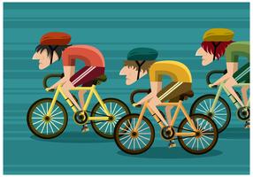 Bicicletas de carreras vector libre