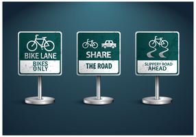 Bicicleta livre Vector Sign