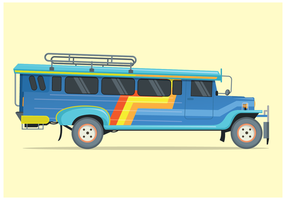 Vecteur Jeepney Illustration libre