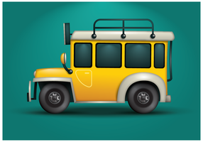 Free Jeepney Illustration Vector