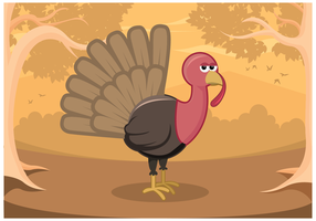 Wild Turkey Vector in Forest