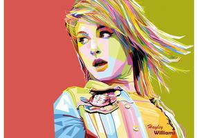 Hayley Williams vektor WPAP