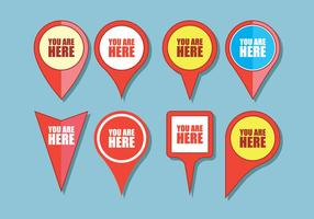 You Are Here Sign Icons vector