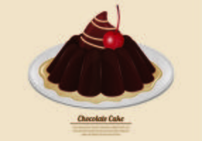 Vectorial de la torta de chocolate