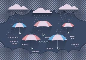 Monsoon Background Vector Dark Blue