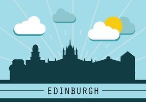 Silhouette dell'orizzonte di Edimburgo