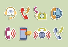 Internet Telephone Digital Communication Vector
