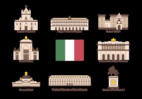 Nápoles Iconos Vector