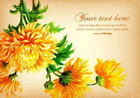 Beau fond vintage fleur jaune
