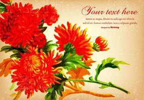 Schöner rote Weinlese-Blumen-Hintergrund
