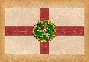 Bandera de Alderney en el fondo del estilo del Gr