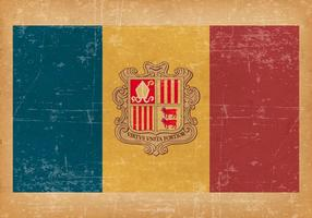 Flag of Andorra on Grunge Style Background