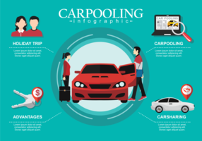 Carpool Infographic vector